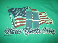 Vintage Hanes Label - NEW YORK CITY TWIN TOWERS w/ American Flag (LG) T-Shirt