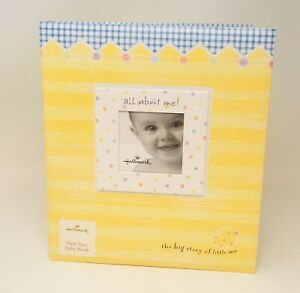 Hallmark First Year Baby Book The Big Story of Little Me 3 Ring Scrapbook *NEW*