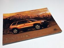 2001 Hyundai Santa Fe Preview Brochure