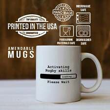 New listing Rugby Mug Activating Rugby Skills Loading Please Wait Gift For Rugby Player