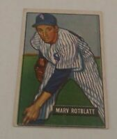 MARV ROTBLATT - 1951 BOWMAN - ROOKIE CARD - #303 - CHICAGO WHITE SOX -