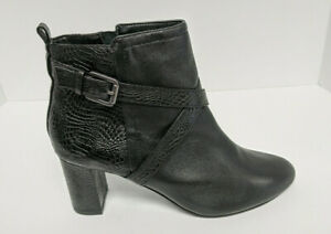 David Tate Inspire Ankle Booties, Black Leather, Women's 10.5 Wide