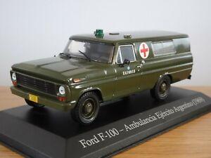 ALTAYA IXO ARGENTINA ARMY FORD F100 MILITARY AMBULANCE 1969 CAR MODEL LXS15 1:43