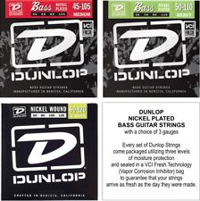 Dunlop Bass Guitar Strings - Nickel Plated - with a choice of 3 Gauges