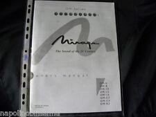 Mirage OM Series om 6/8/10/12/14/C2/C3/R2 Mode emploi De l'utilisateur Manual