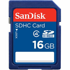 Lot of 10 x SanDisk 16GB SDHC Class 4 SD Flash Memory Card Camera SDSDB-016G-B35