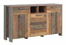 Sideboard CLIF 3 Türen 2 Schubladen Optik: Old Wood Vintage von Forte
