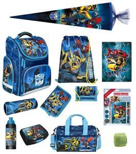 Transformers Schulranzen Set 17tlg. Federmappe Sporttasche Schultüte Blau Jungen