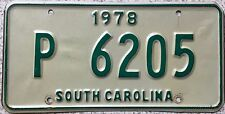 FREE UK POSTAGE 1978 South Carolina USA American License Number Plate P 6205