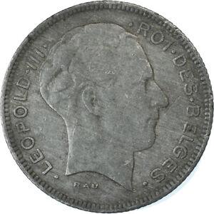 [#881767] Coin, Belgium, 5 Francs, 5 Frank, 1946, EF, Zinc, KM:129.1