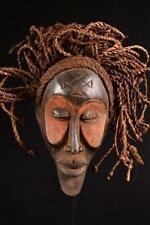 13064 Africano Antiguo Chokwe Rasta Máscara / Máscara Dr Congo