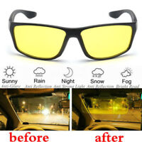 Night Vision Driving HD Definition Safety Glasses UV Sunglasses Yellow Lens
