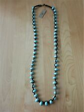 Barse Genuine Turquoise Magnesite and Cord Necklace MSRP $48