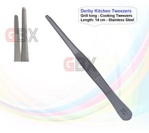 GBX UK Kitchen Tweezers - Grill tong - Cooking Tweezers - Length: 14 cm