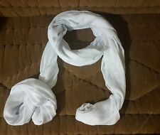 Mauritanian African Tuareg Scarf - White - Long Handmade Ethnic Turban - RARE