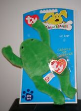 Ty Bow Wow Beanies ~ LIL' LEGS the Frog - Crinkle/Squeak Toy ~NEW with MINT TAGS