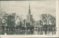 STRATFORD-UPON-AVON Holy Trinity Church Postcard nr Warwick WARWICKSHIRE
