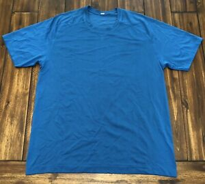 Men's Lululemon Metal Vent Tech T-Shirt Short Sleeve Size Large Whirlpool Blue