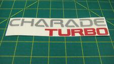 Daihatsu Charade GT ti Turbo tailgate decal sticker graphics1300