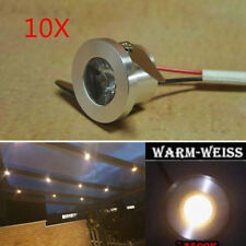 10x 1W LED Recessed Downlight Indoor Spot Light Bulb Warm White Ceiling Light