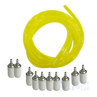 10pcs Oil Filter&Petrol Fuel Gas Line Pipe Hose For Trimmer Chainsaw Blowers