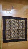 VTG Men's Silk Blac/Gold Italian Design Made in Italy Pocket Square Handkerchief