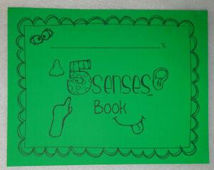 Kindergarten Senses Book Journal Practice Handwriting Workbook Homeschool Art