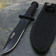 "7.5"" MILITARY TACTICAL COMBAT KNIFE w/ SHEATH Survival HUNTING Bowie Fixed Blade"