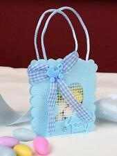 12 Mesh Baby Heart Favors It's a Boy! - large, Blue  Bomboniere.Baby Shower