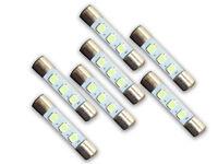 7 Cool Blue 8V LED Lamp Fuse-Type Bulbs for Sansui 8080, 9090, 9090B - 7CB-m12