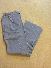 "A BRAND NEW 100% COTTON CHEFS TROUSER SIZE 100R, 40"" (BLUE & WHITE DOGTOOTH)"