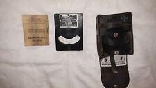 New listing Vintage Hercules Powder Co Blasting Galvanometer Bethlehem Pa w/ Leather Case