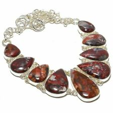"""Mexican Laguna Lace Agate 925 Sterling Silver Necklace 17.99""""(9)"""