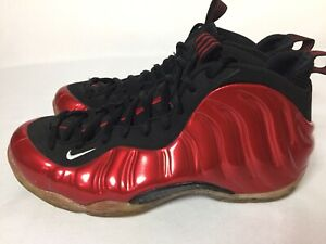 Nike Air Foamposite One Metallic Varsity Red Sneakers Men's Size 9.5 314996-610