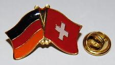 FREUNDSCHAFTSPIN 0122 PIN ANSTECKER DEUTSCHLAND/ SCHWEIZ FAHNE METALL PINS NEU