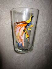 Vintage cocktail / juice glass, Paradisaea Minor tropical bird, made in Malaysia