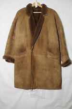 Gentili Montone Shearling Tg. 40 (Cod.G56) usato Marrone vintage cappotto giacca