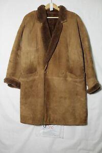 Gentili Cuir de Mouton Peau Taille 40 (Cod.G56) D'Occassion Brun Vintage Veste