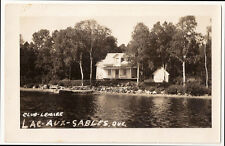 Lac Aux Sables Quebec Club Lemire Vintage Real Photo Postcard