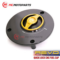 GOLD Quick Release Gas Fuel Cap REVO For Yamaha YZF R6 1999-2017