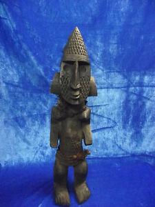 Schön stilisierte, stehende Figur mit Ausdrucksstarkem Gesicht,Ethnogrphica,Fang
