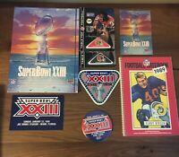 1988-89 NFL SUPER BOWL XXIII PROGRAM PATCHES BOOK TOKENS & MORE 49ERS vs BENGALS