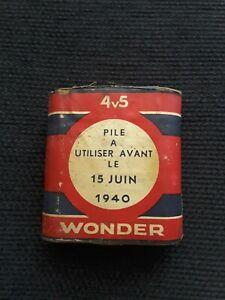Pile ancienne wonder à utiliser avant juin 1940 WWII