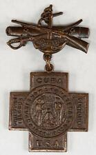 1898-1902 Spanish American War Veterans Medal Philippine Cuba Puerto Rico 59555