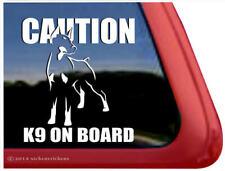 Caution - K9 on Board | Doberman Pinscher Guard Dog Window Decal Sticker