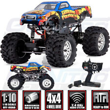 Redcat 1/10 Ground Pounder Monster Truck fuera de carretera cepillado 4WD RTR Azul Con Radio