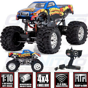 Redcat 1/10 Ground Pounder Monster Truck Off Road Brushed 4WD RTR Blue w/ Radio