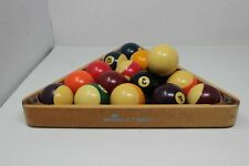 Lantro JS Professional Vintage Durable Sports Snooker Ball Rack Wooden Billiards Ball Rack for Home Bar
