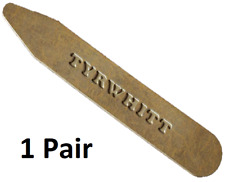 Charles Tyrwhitt 65mm Pair Solid Polished Brass Metal Shirt Collar Stiffener NEW