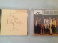 Three Dog Night , 2 cd lot, 20th CENTURY MASTERS And Their Greatest Hits VG